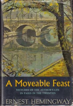 "A Moveable Feast (1964). Ernest Hemingway (1899 – 1961). Scribners (USA). First American Edition. Set of memoirs about his years in Paris as part of the American expatriate circle of writers in the 1920s. ""If you are lucky enough to have lived in Paris as a young man, then wherever you go for the rest of your life, it stays with you, for Paris is a moveable feast."" (Hemingway)"
