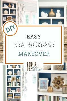 Kate from Centsational Girl loves the Billy style bookcase from Ikea so much that she is embarking on her fourth DIY project involving this bookcase. Check this out. Diy Furniture Easy, Diy Furniture Projects, Easy Diy Projects, Furniture Makeover, Home Projects, Bookcase Makeover, Ikea Makeover, Ikea Bookcase, Bookshelves