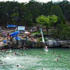 The Blue Hole Pool at Turner Falls in Oklahoma on Wednesday. Best Family Vacations, Family Vacation Destinations, Vacation Trips, Vacation Spots, Family Travel, Oklahoma Lakes, Travel Oklahoma, Oklahoma Sooners, Canada Travel