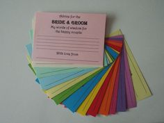 Wedding Words of Wisdom Cards A6  | eBay
