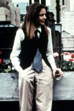 1946-present  As the eponymous Annie Hall of Woody Allen's 1977 cult hit – for which she ultimately won a Best Actress Oscar – Diane Keaton spawned the breakaway mannish trend that was so at odds with the ultra-light, ultra-feminine fashion of the day. Her unself-conscious, androgynous looks for the film were sourced mainly from men's vintage stores, spawning a niche style fan base who fell for neckties, vests, baggy trousers and fedora hats.