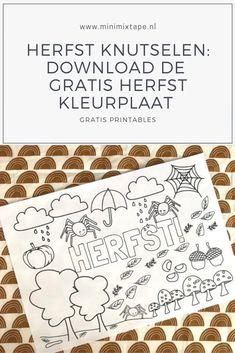 Kleuren is altijd goed. Download de gratis printable kleurplaat voor de herfst en maak een mooi herfst knutselwerkje Easy Peasy, Dutch, Printables, Dutch Language, Print Templates, Printable Templates