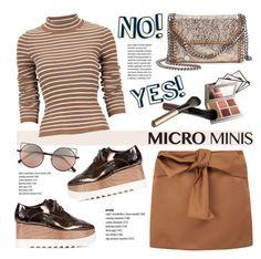 """New Trend: Micro Mini Skirts"" by helenevlacho ❤ liked on Polyvore featuring moda, N°21, STELLA McCARTNEY, Linda Farrow, Laura Mercier, contestentry e microminis"