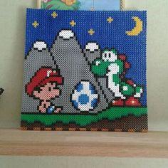 Yoshi's Island nabbi beads by elgur_beads