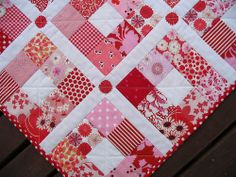 Red Pepper Quilts: It's a nine patch!  This would be great for working up any color scheme.  Lot's of ideas for using up my stache!