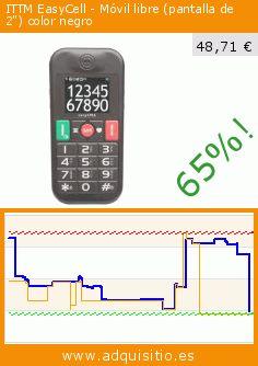 """ITTM EasyCell - Móvil libre (pantalla de 2"""") color negro (Electrónica). Baja 65%! Precio actual 48,71 €, el precio anterior fue de 138,25 €. https://www.adquisitio.es/ittm/easycell-m%C3%B3vil-libre"""