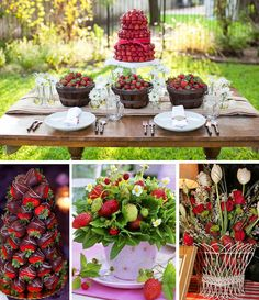 Strawberry Centerpieces