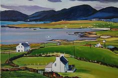 Buy Dingle Peninsula, Oil painting by Emma Cownie on Artfinder. Irish Landscape, Landscape Art, Landscape Paintings, Irish Cottage, Fashion Painting, Paintings For Sale, American Artists, Beautiful Landscapes, Art Pictures