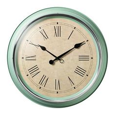 Love this new mint colored wall clock from IKEA