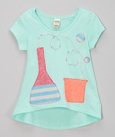 Love this little bits Teal Crazy Science Hi-Low Tee - Toddler & Girls by little bits on #zulily! #zulilyfinds