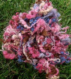 Art Yarn Suri Alpaca Handspun 45 Yards Natural by AlpacaMeadows, $39.00