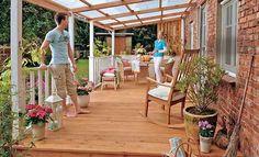 Terrassendach günstig selbst bauen