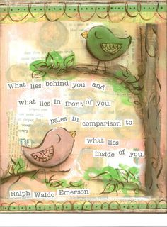 What lies within you.