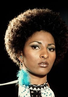 Pam Grier. This is an old picture, but it looks so fresh right now.