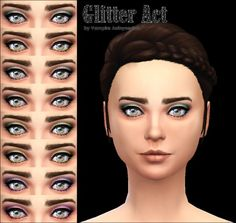 Mod The Sims: Glitter Act Eyeshadow -8 colors- by Vampire_aninyosaloh • Sims 4 Downloads