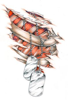dog tags hanging from ribs by ~chilchix on deviantART Army Tattoos, Military Tattoos, Eagle Tattoos, Tattoo Design Drawings, Tattoo Designs, Dog Tags Tattoo, Body Art Tattoos, Cool Tattoos, Cool Pictures To Draw