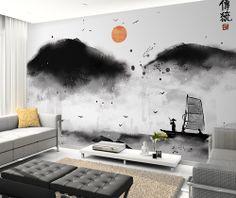 상품 상세보기 : 자연그린 벽지&롤스크린 - 동양화 OP_616