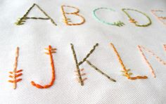 feather-stitch alphabet