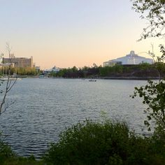 View of Science North  (science centre) from Bell Park, Sudbury, Ontario Canada