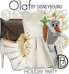 Disneybound: Holiday Party--Olaf (so I pretty much love this entire outfit! Lol!)