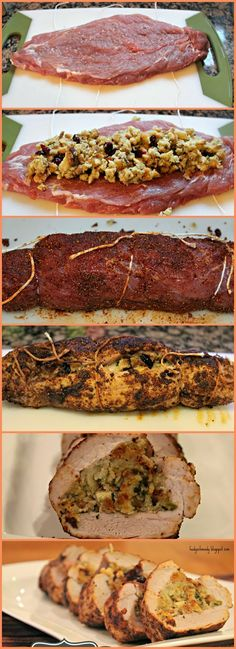 I'm JUST Cooking: Stuffed Pork Tenderloin Much easier than you think! Step by Step instructions!I'm JUST Cooking: Stuffed Pork Tenderloin Much easier than you think! Step by Step instructions! Pork Tenderloin Recipes, Pork Recipes, Cooking Recipes, Recipies, Cooking Games, Le Diner, Just Cooking, Cooking Ribs, Cooking Salmon