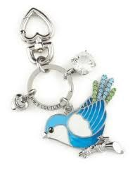 Juicy Couture Bluebird key chain