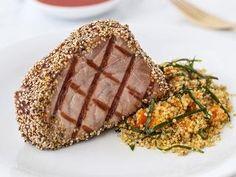 Seasame seed encrusted tuns steaks | Lorraine Pascal's recipe via Women's health
