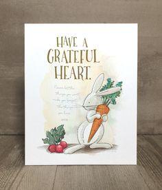 Items similar to Children's rabbit art print, nursery art, kid character trait, gratitude on Etsy Grateful Heart, Thankful, Rabbit Art, Kid Character, Animal Prints, Art Prints, Nursery Art, Playroom, Art For Kids