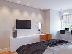 Дизайн и визуализация интерьера : Визуализация спальни в современном стиле