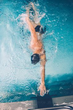 swimming to the finish line by RG&B Images - Stocksy United Swimming World, I Love Swimming, Swimming Sport, Swimming Diving, Scuba Diving, Swimming Photography, Underwater Photography, Underwater Photos, Swimming Pictures