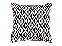 Add a bold graphic print to your living area with the Monographic Scatter Cushion. In black and white with fuchsia piping for a striking contrast. Hand made. Scatter Cushions, Throw Pillows, Wall Art Designs, Graphic Prints, Home Accessories, Canvas Prints, Black And White, Rugs, Cushion Ideas