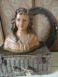 Plaster Sculpture, Sculptures, Statues, Vintage Mannequin, Mannequin Heads, Half Dolls, Woman Painting, Vintage Love, Antique Dolls