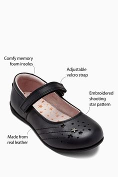 8a6f7c589ec2 Buy Black Narrow Fit Star Mary Jane Shoes (Older) from the Next UK online  shop