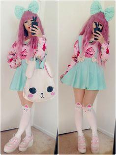 Kawaii Bunny Bag - Fairy Kei, Pop Kei, Harajuku, Sweet Lolita ...