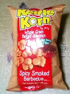 kettle korn whole grain baked popcorn spicy smoked barbeque <3