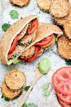 Baked Eggplant and Zucchini Sandwiches with Avocado Aioli! A super healthy, delicious, and easy lunch recipe! Lunch Recipes, Vegetarian Recipes, Cooking Recipes, Healthy Recipes, Sandwich Recipes, Healthy Eggplant Recipes, Veggie Sandwich, Tofu Recipes, Chicken Sandwich