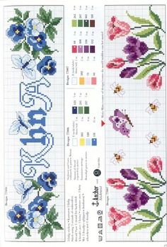 Cross Stitch Flowers, Cross Stitch Patterns, Mary And Jesus, Pansies, Cross Stitching, Embroidery, Knitting, Anchor, Gardening