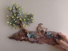 NURHAN GÜNAY'DAN MUHTEŞEM AĞAÇ KABUĞU SANATI - tree bark art from Nurhan Gunay