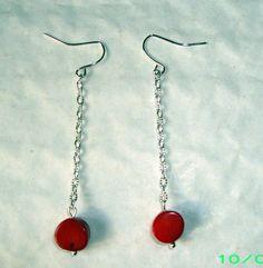 Handmade Beautiful Antique Style Earrings~Art Nouveau~Dangle Earrings~PRETTY!!! #handmadeartisandesign #DropDangle