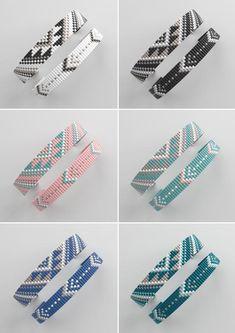 off loom beading stitches Loom Bracelet Patterns, Bead Loom Bracelets, Bead Loom Patterns, Jewelry Patterns, Beading Patterns, Beading Ideas, Macrame Bracelets, Jewelry Ideas, Stitch Patterns