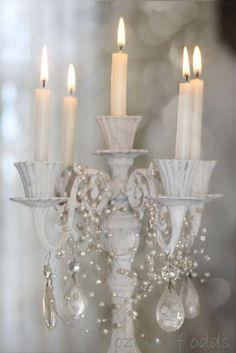 Shabby Chic Lamp, would look beautiful in our Shabby Chic holiday houses - Kate Tom's
