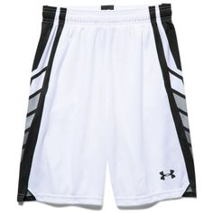 Under Armour Boys' UA Select Basketball Shorts ($30) ❤ liked on Polyvore featuring white