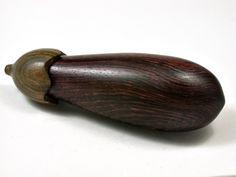 LV-2402 Eggplant Threaded Box, Needle Case, Jewelry Box from Camatillo & Verawood-SCREW CAP