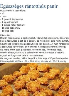 Healthy Recepies, Healthy Breakfast Recipes, Healthy Snacks, Healthy Eating, Diet Recipes, Cooking Recipes, Hungarian Recipes, Recipes From Heaven, Perfect Food