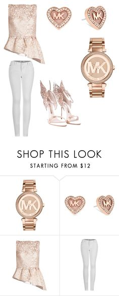 """Rose Gold"" by jalonnafreeman ❤ liked on Polyvore featuring Michael Kors, Osman, 2LUV and Sophia Webster"