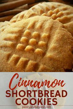 4 Ingredient Easy Cinnamon Cookies - Pastry & Beyond Easy Cookie Recipes, Sweet Recipes, Dessert Recipes, Diabetic Recipes, Coconut Cookies, Shortbread Cookies, Best Shortbread Cookie Recipe, Short Bread, 4 Ingredient Recipes