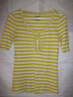 Old Navy Women's Shirt Top Lime Green White Striped Ruffle Size Small #womens #top #shirt #oldnavy #ruffle #striped #fashion #clothing #clothes #apparel #onlinestore #onlineshopping #ebay #ebaystore
