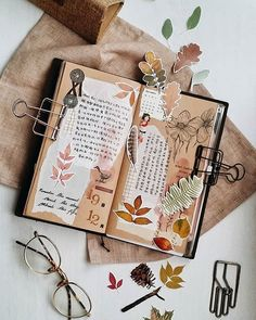 lollalane Autumn is a second spring when every leaf is a flower. - Albert Camus Thank you for these lovelies ❤ Art Journal Pages, Bullet Journal Aesthetic, Bullet Journal Notebook, Bullet Journal Ideas Pages, Bullet Journal Inspiration, Junk Journal, Kunstjournal Inspiration, Creative Journal, Scrapbook Journal