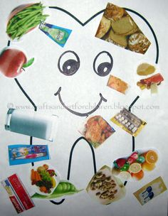 Learning About Dental Health Tooth Collage Children's Craft / Art Project - Great for Pre-K Complete's Dental Health theme! Repinned by Pre-K Complete - follow us on our blog, FB, Twitter, & Google Plus!