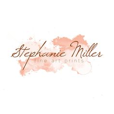 Premade + Customizable Watercolor Logo @ Etsy. $20